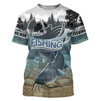 Catfish river bed Fishing T Shirt All Over Print