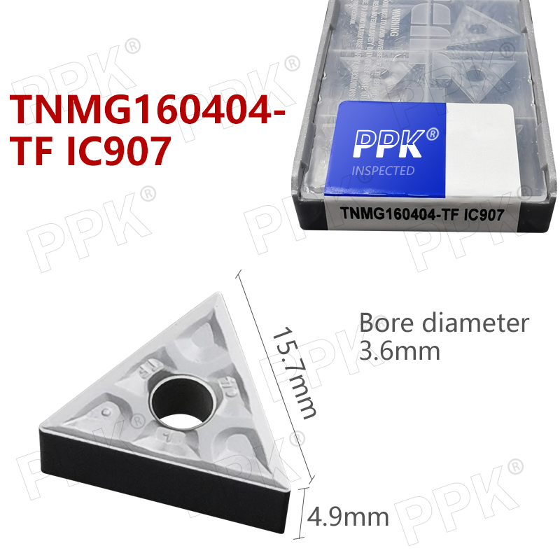 TNMG160404- TF IC907 External Turning Tools Carbide Insert Lathe Cutter Tool Tokarnyy Turning Insert