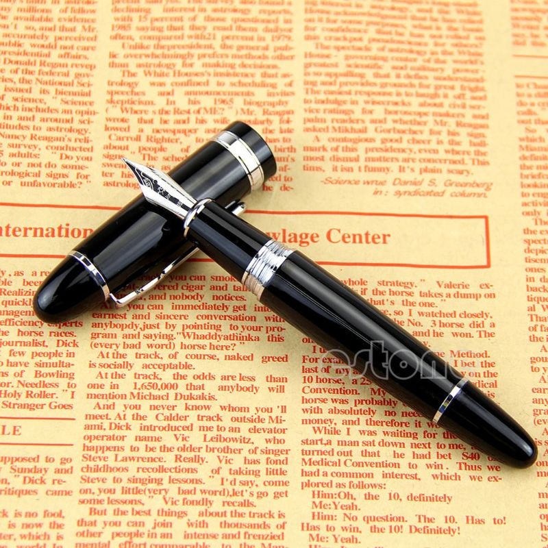 High Quality Newest  Jinhao 159 Fountain Pen Black And Silver M Nib Thick