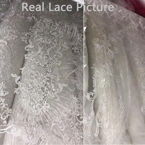 Image 3 - Vestido דה Noiva Sereia סקסי חרוזים תחרת בת ים שמלות כלה 2019 כבוי כתף הכלה חתונת כותנות Robe דה Mariee שמלת