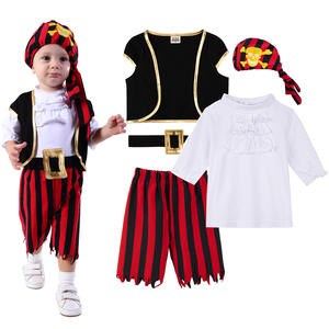 Image 1 - Baby Boys Pirate Costume Romper Infant Captain Cosplay Jumpsuit Newborn Carnival Outfit New Year Playsuit For Bebe Ropa Clothes