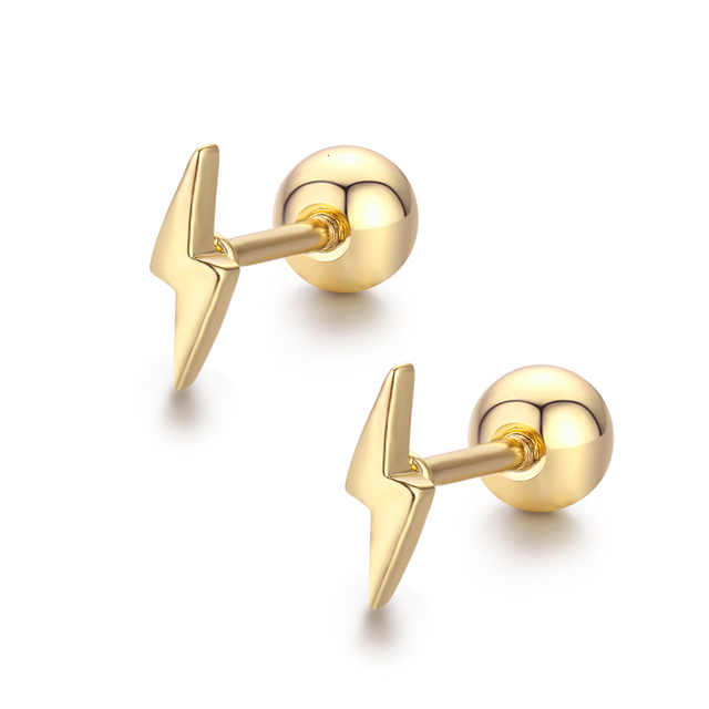 Cute Mini Small Lightning Screw Back Stud Earrings For Women Kids Girls Gold Color Piercing Jewelry.jpg 640x640 - Cute Mini Small Lightning Screw Back Stud Earrings For Women Kids Girls Gold Color Piercing Jewelry Oorbellen Aros Orecchini