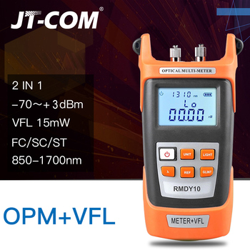 цена на 2 In1 Fiber optical power meter -70 + 3dBm and 15mW 15km Fiber Optic Cable Tester Visual Fault Locator Red Light Laser Pen