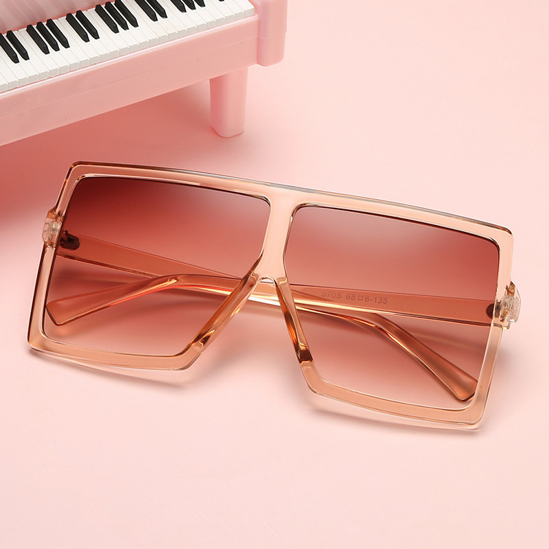 Imwete Classic Oversized Sunglasses Women Men Retro Brand Designer Gradient Sun Glasses Shades Ladies Big Frame Sunglass UV400