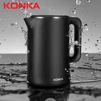 KONKA 304 Stainless Steel Electric Kettle 1.7 L Household Stainless Steel Smart Electric Kettle Fast Boiling Electric Kettle|Electric Kettles| |  -