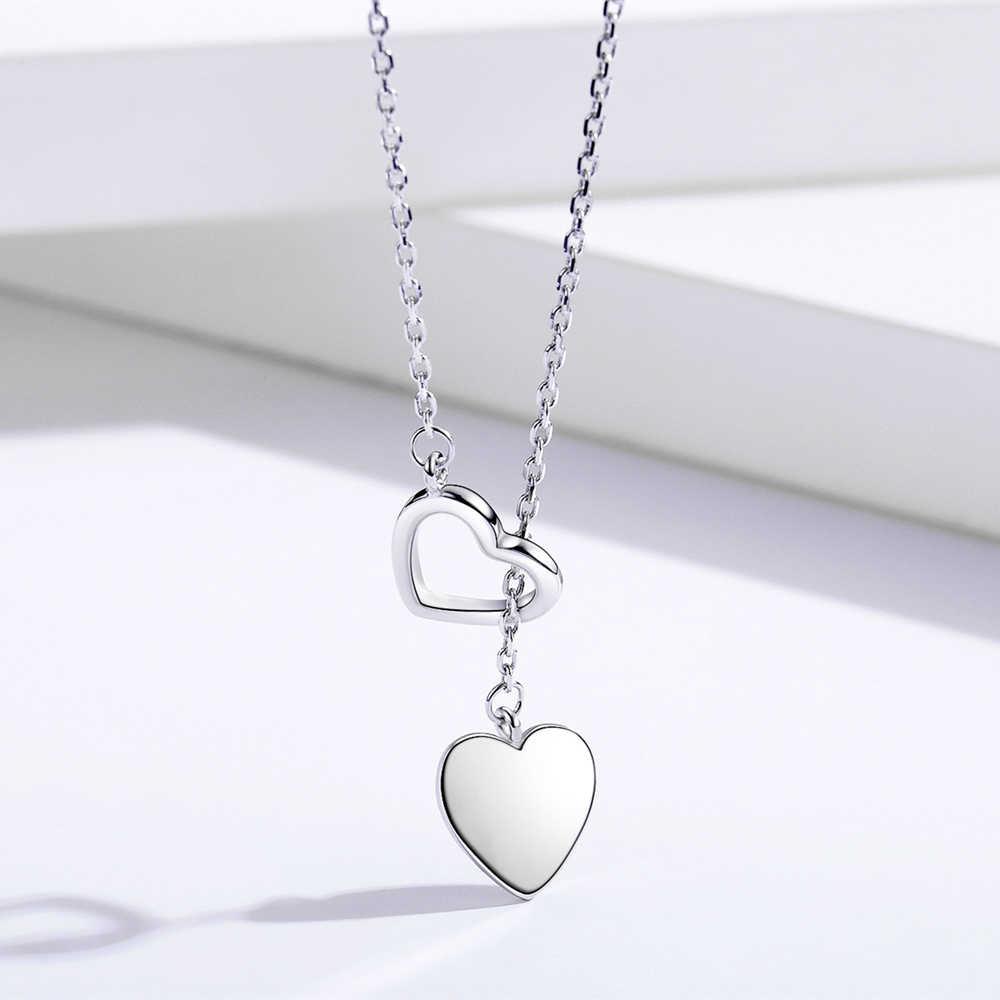 Sodrov 925 כסף סטרלינג שרשרת תליון לנשים זוגי לב באיכות גבוהה בסדר כסף 925 תכשיטים