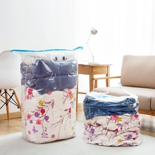 Clothes Compression Storage Bag Foldable Border Sealed Transparent Vacuum Dust Cover Organizer Household Wardrobe Accessories