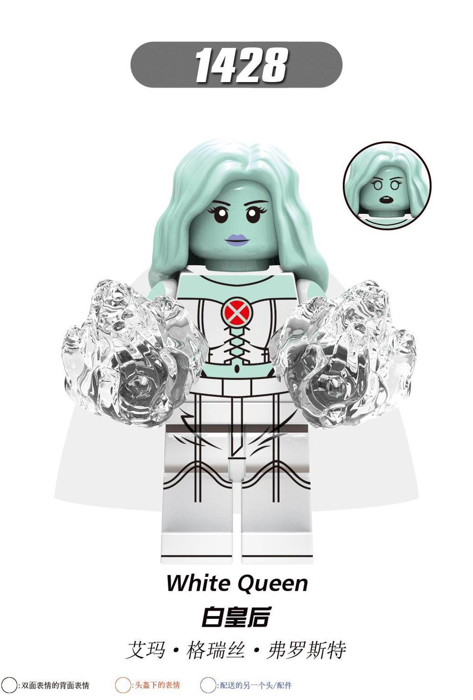 Super Heroes The Phoenix Ice Woman Colossus Sentinel Psylocke Iceman White Queen Mystique Dark Phoenix Superheros  Blocks Toys