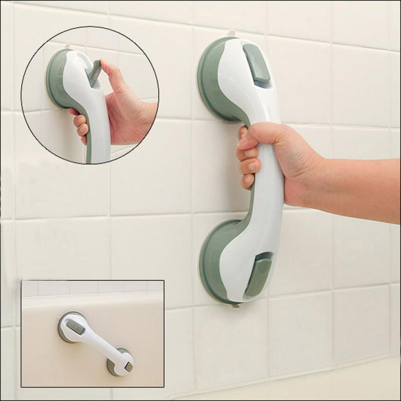 Bathroom Tools Suction Cup Armrest Safety Sucker Handrail Bath Door Non-slip Vacuum Handle Bathroom Toilet Railing Handrail New