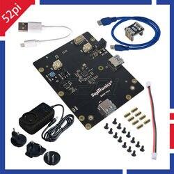 X820 v3.0 2.5 polegada sata hdd/ssd placa de expansão de armazenamento com dc 5 v 4a adaptador de alimentação plug para raspberry pi 3 b + (plus)/3 b