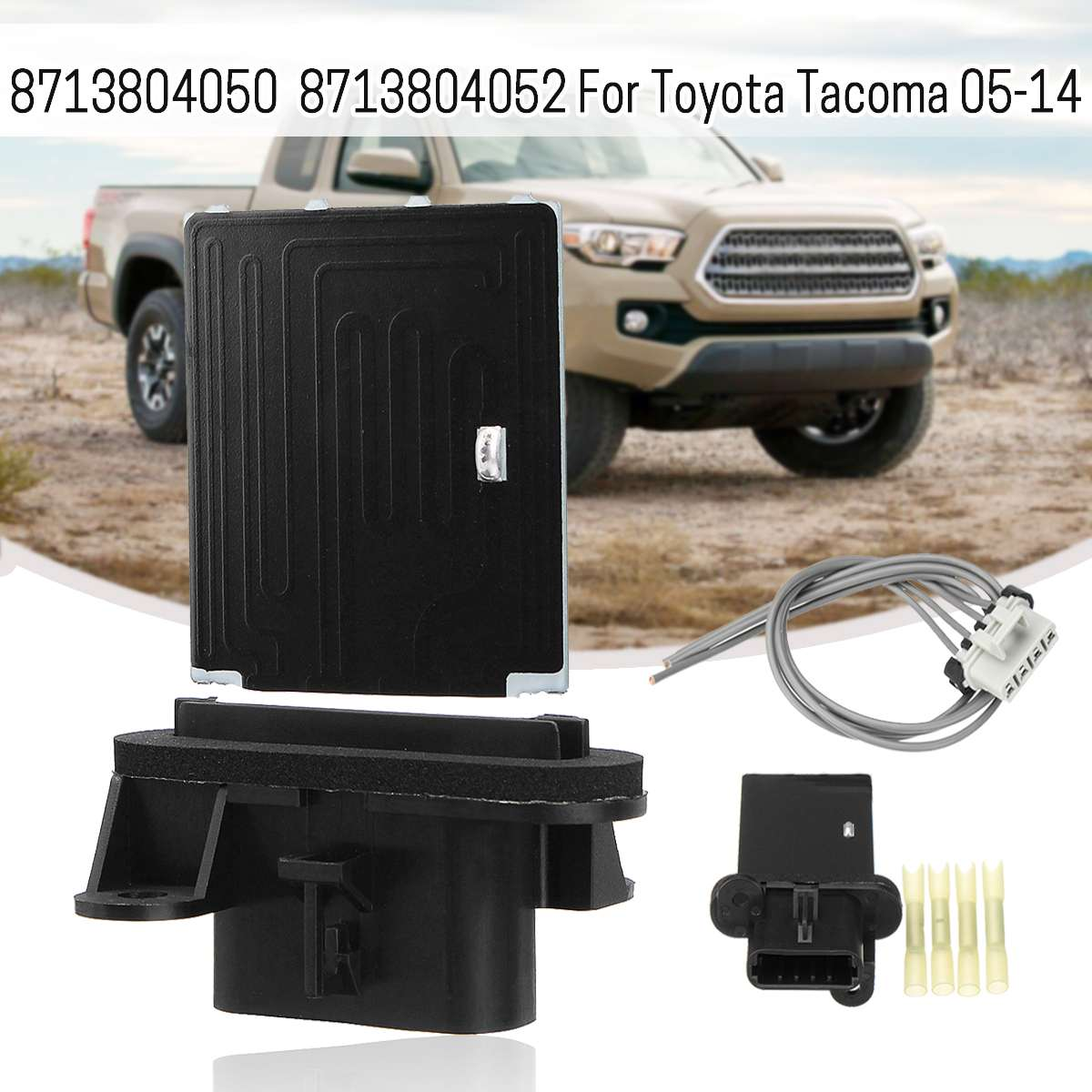 HVAC Blower Motor Resistor Kit With Harness Connector For Toyota Tacoma 2005-2014