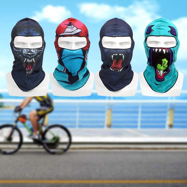 Full Face and Neck Coverage Windproof Sun-protection Dust Protection Motocycle Mask Unisex Balaclava 3D Animal Summer Breathable 1