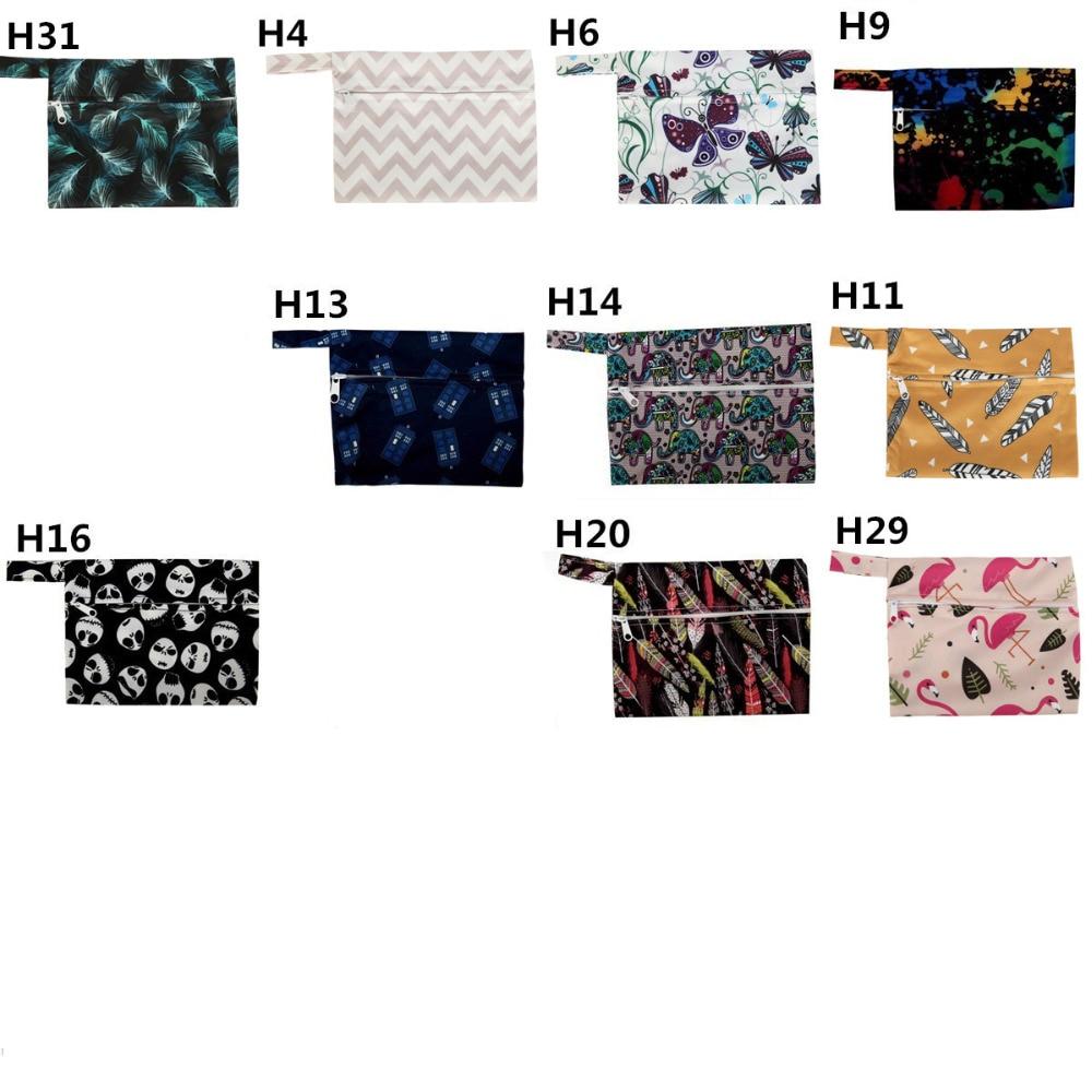 H823acd15728a4a9987e27b72bb271562Q [Sigzagor] 1 Small Mini Wet Bag Reusable for Mama Cloth Sanitary Menstrual Maternity Pad,Tampon,Cup Bib,Buyer PICK,35 Designs