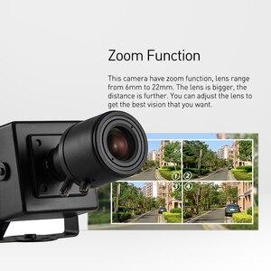 Image 4 - POE HD 1080P 6 22mm עדשת זום ידנית מיני סוג 2.0MP מקורה IP מצלמה אבטחת ONVIF p2P CCTV מצלמת מערכת