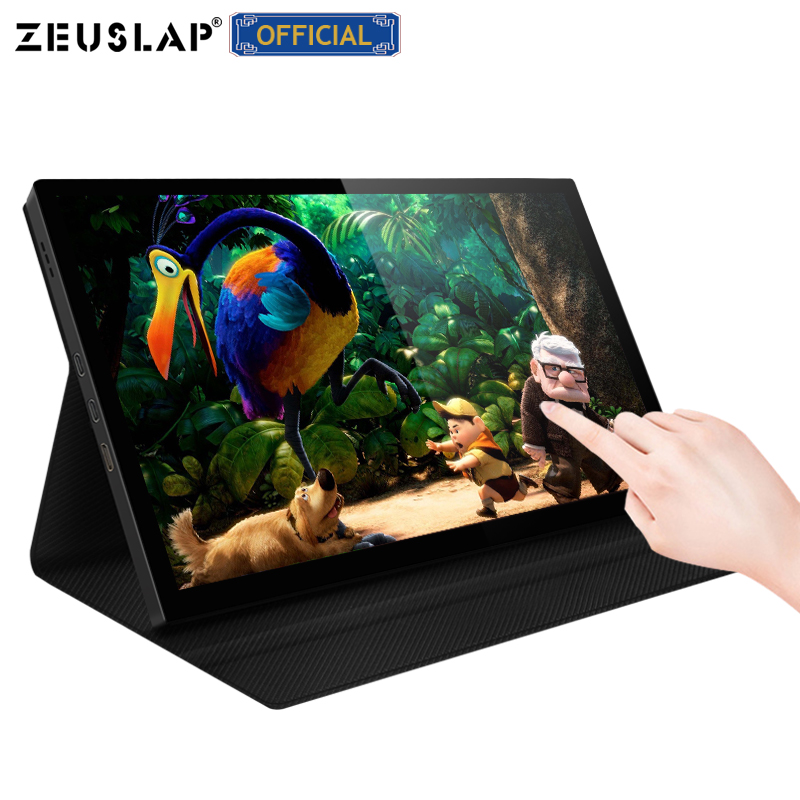 ZEUSLAP 8.9 ips 10 point touch screen 1920x1200p ntsc 72% portable touch panel gaming pc monitor image