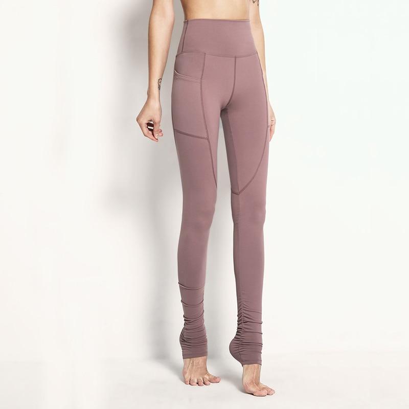 Women Tight Sports Sexy High Waist Yoga Legggings Fitness Running Stretch Fabric Foot Step on Yoga Pants