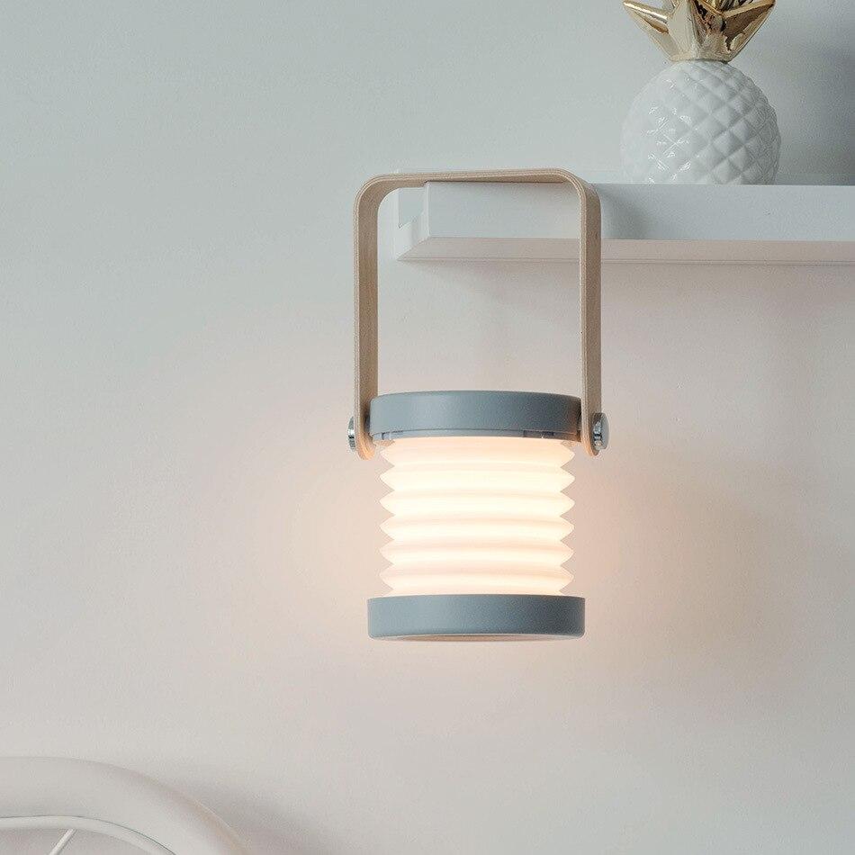 Купить складная настольная лампа портативный фонарь с деревянной ручкой