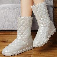 Gucci tianlun tubo plano botas de neve feminina 2019 outono & inverno novo estilo escovado e grosso botas de elevador sapatos femininos|  -