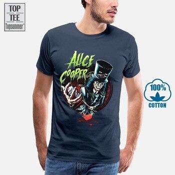 Alice Cooper, camiseta para hombre, camisetas divertidas, camiseta de verano de manga...
