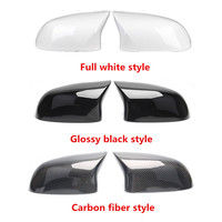 1 Pair Carbon Rear Mirror Cover Fit For bm w X4 F26 & X3 F25 ABS Rearview Mirror Replacement Cover For X5 F15 & X6 F16 2014 2018