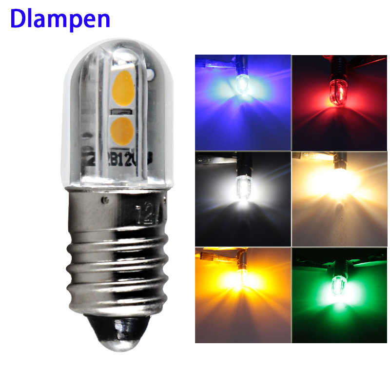 bombillas led bulb E10 1W Dc 6V 12v 24v 36v 48v Indicator lights Warning Light Signal energy saving lamp super bright 3030 chip