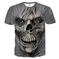 T hemd männer 2019 Neueste schädel 3D Drucken Coole Lustige T-Shirt Männer Kurzarm Sommer Tops T Shirt T Shirt männlichen Mode T-shirt männer