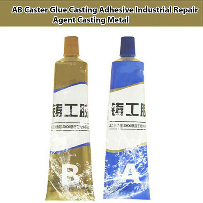 1Set AB Caster Glue Industrial Heat Resistance Weld Metal Repair Paste A&B Adhesive Gel Sealant Quick-drying Glue
