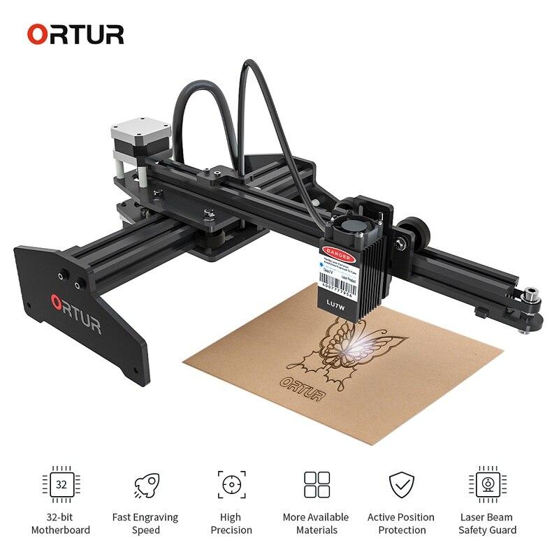 Ortur laserowe Master 7W laserowa maszyna do grawerowania 32-Bit płyta główna LaserGRBL DIY grawerowanie szybko rzeźba 3D drukarki dla systemu Windows z systemem IOS