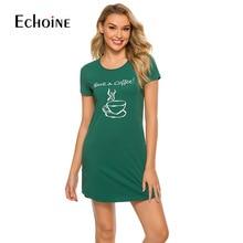 Pure Cotton Loose Womens Nightwear  Short Sleeve Lounge Dress Onsies Summer Casual Nightgowns for Girl Women sleepwear