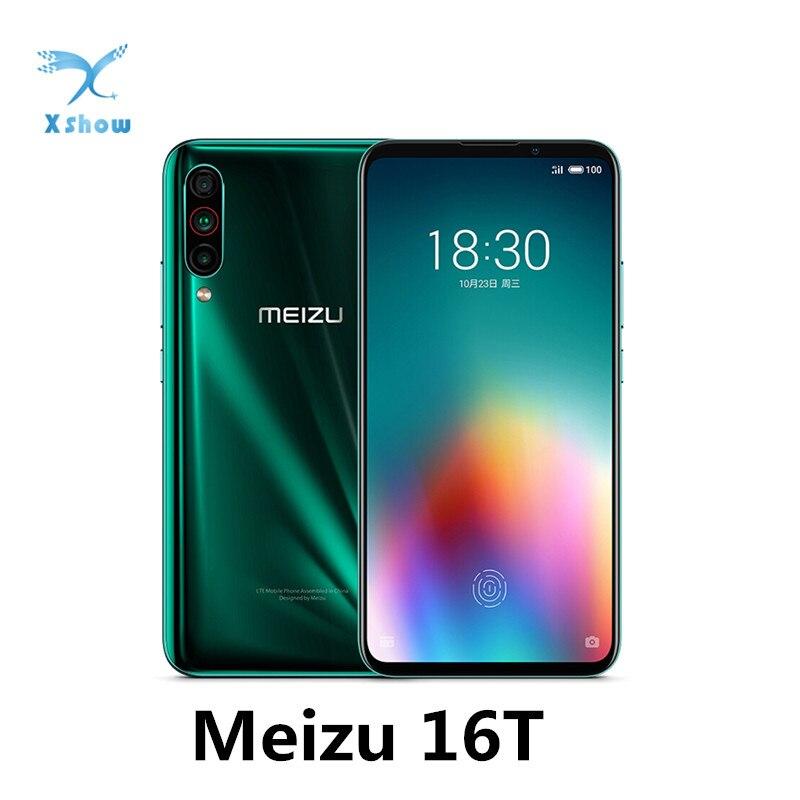 "Meizu 16T 6.5 ""süper Amoled tam ekran cep telefonu Snapdragon 855 4500mAh 18W hızlı şarj ön 16MP arka 12 + 5 + 8MP cep telefonu"