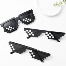 5 цветов! Модные солнцезащитные очки для детей, игрушки для игры в экшн-игры, квадратные очки, 1 шт., подарки для детей