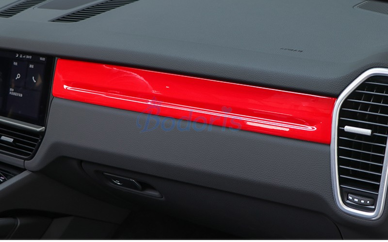 For Porsche Cayenne 2018 2019 Interior Dashboard Moulding Trims Center Control Protector Panel Red Color Auto Accessories Interior Mouldings Aliexpress