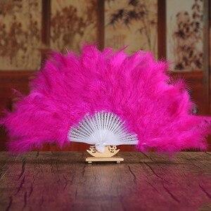 Image 2 - רך פלאפי ליידי ורלסק חתונת יד תחפושת תלבושות ריקוד נוצת מאוורר