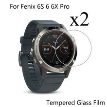 2pcs Protective Film For Garmin Fenix 6S 6 6X Pro Tempered Glass 9H Film For Garmin Fenix 5 5S plus SmartWatch Screen Protector(China)