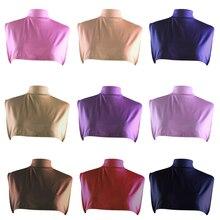 Fake T-shirt Collar Muslim Islamic Hijab Women Full Cover Elastic Under Neck Chest Soft Scarf Wrap Neck Cover Shawl Ramadan New