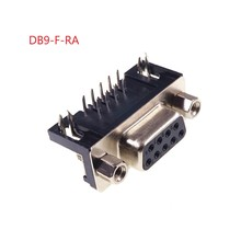 100 Uds conector de D SUB 9 posiciones receptáculo hembra PCB soldadura a través de agujero ángulo recto Placa de estaño serie Puerto 9 Pin