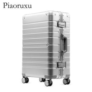 "Image 5 - 20""24""28"" inch 100% aluminium rolling luggage travel suitcase aluminum spinner trolley bag on wheel"