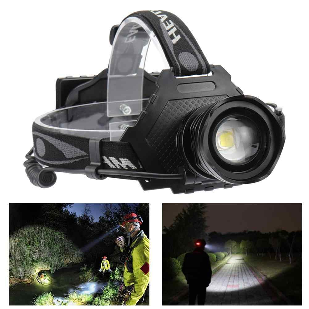 XPH 70 LED Headlamp  Head Torch 5Modes Telescopic Adjustable Headlight BE