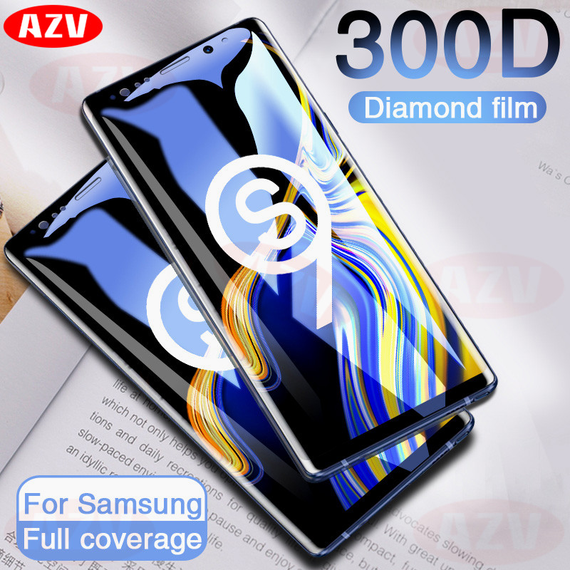 300D Full Curved Tempered Glass For Samsung Galaxy S9 S8 Plus Note 9 8 Screen Protector On Samsung S7 S6 Edge S9 Protective Film