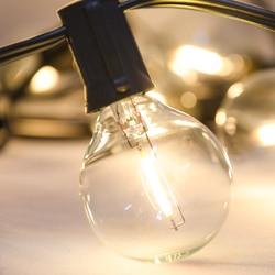 25PCS G40 LED String Lights Replacement Bulb E12 220V 110V Warm White 2700K LED Light Lamps Replace 5W 7W Incandescent Bulbs