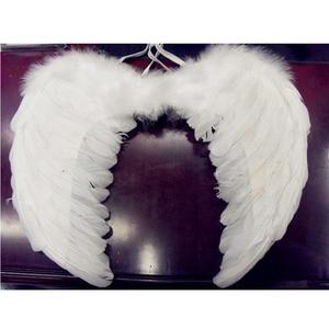 Image 2 - Angel wings ปีกขนนก Photo Prop คอสเพลย์ปีกสีดำปีกเวทีแสดงฮาโลวีนเครื่องแต่งกายงานแต่งงานวันเกิดของขวัญ Decors