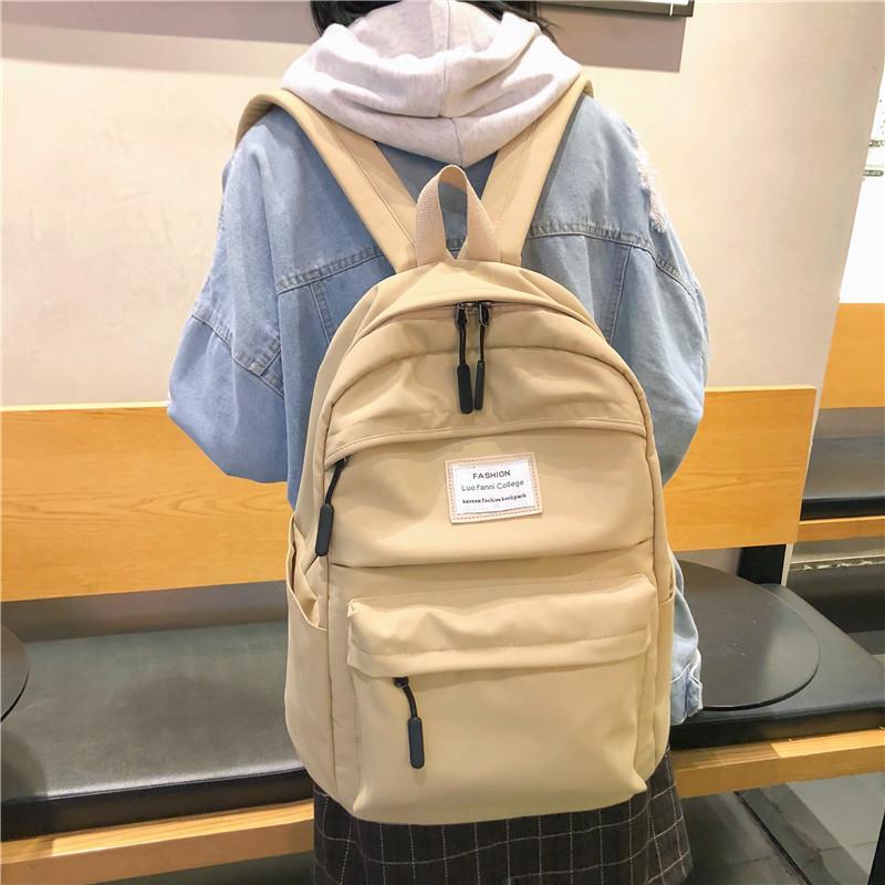 MYT_0244 Waterproof Nylon Women Backpack Female Large capacity high schoolbag Korean Vintage girl Shoulder Bags Travel Bag Mochi