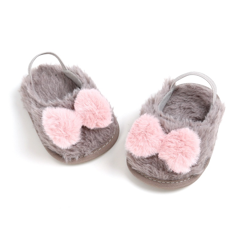 Toddler Infant Newborn Baby Girls Shoes Bow Soft Crib Sole Cute Slippers Prewalker Warm Shoes