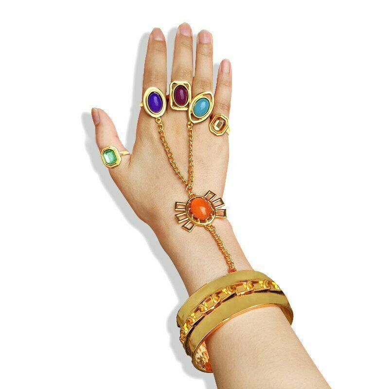 Thanos Gauntlet Hand Chain Bracelet Avengers 4 Endgame Black Widow Cosplay Costume Jewelry Prop Gift