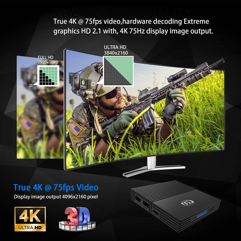 Tv box android 9.0 Amlogic S905x2 A95x F2 android tv box 4GB 32GB 64GB bluetooth 2.4/5G wifi voix Contorl Smart tv android box - 3