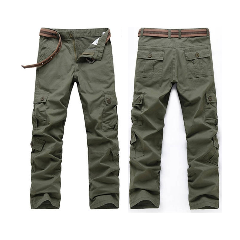 Cargo Pants Men City Tactical Combat SWAT Army Military Pants Male Cotton Many Pockets Stretch Flexible Man Casual Trousers 38