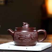 FILTER-KETTLE Tea-Set Teapot-Tie Guanyin Dragon Yixing Teaware-Supplies Purple Clay Handmade
