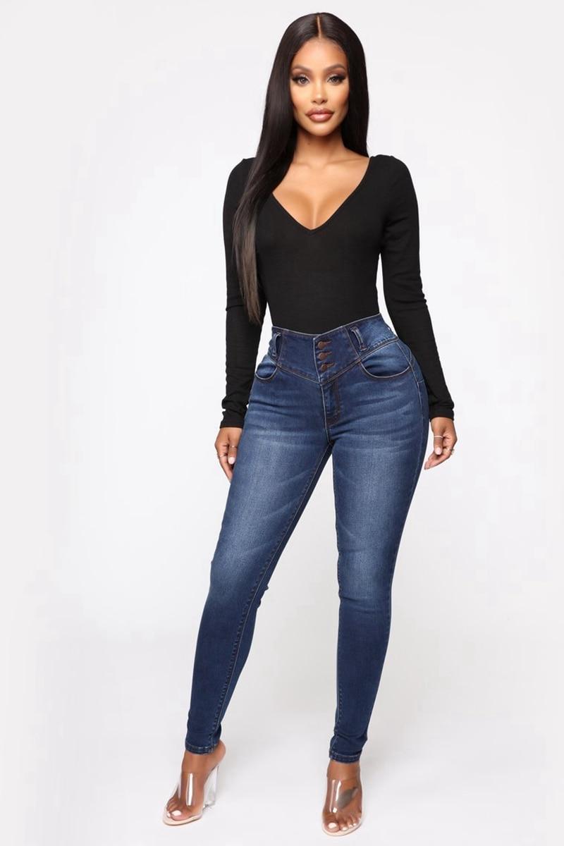 Fashion Skinny Jeans Women Mom Jeans Pants Boyfriend Jeans For Women High Waist Push Up Plus Size Ladies Pencil Jeans Denim 2019