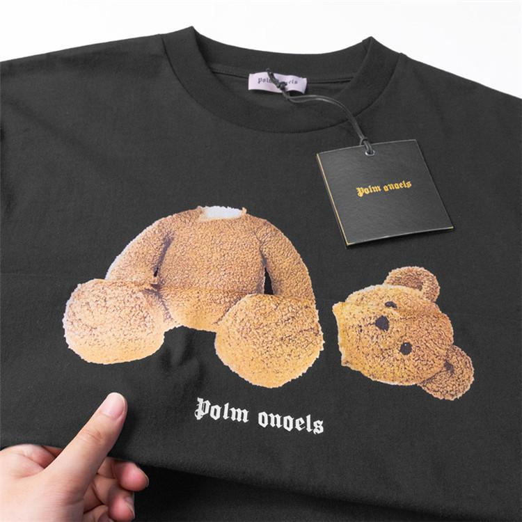 Palm Angels bear short sleeved men and women couple loose T shirt high street hip hop