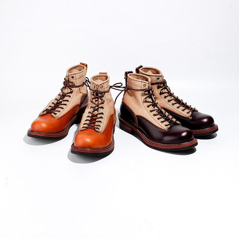 2019 мужские ботинки из натуральной кожи; сезон осень зима; ботильоны; модная обувь; слипоны; мужская повседневная обувь в деловом стиле с высо... - 6